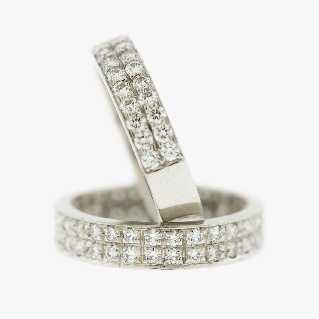 Diamond wedding band bands ring rings San Francisco Partita custom design jewelry