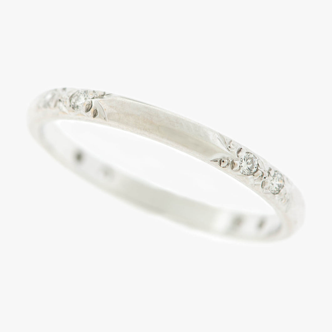 Wedding diamond band bands ring rings San Francisco Partita customer design jewelry