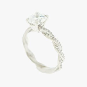 Twist Engagement Ring  Beautiful San Francisco Partita custom design jewelry