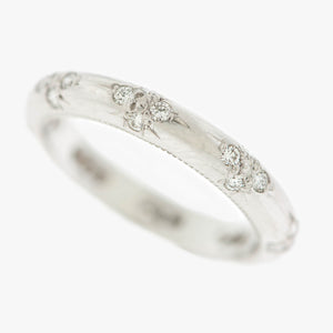 Hand engraved wedding diamond band bands ring rings San Francisco Partita custom design jewelry