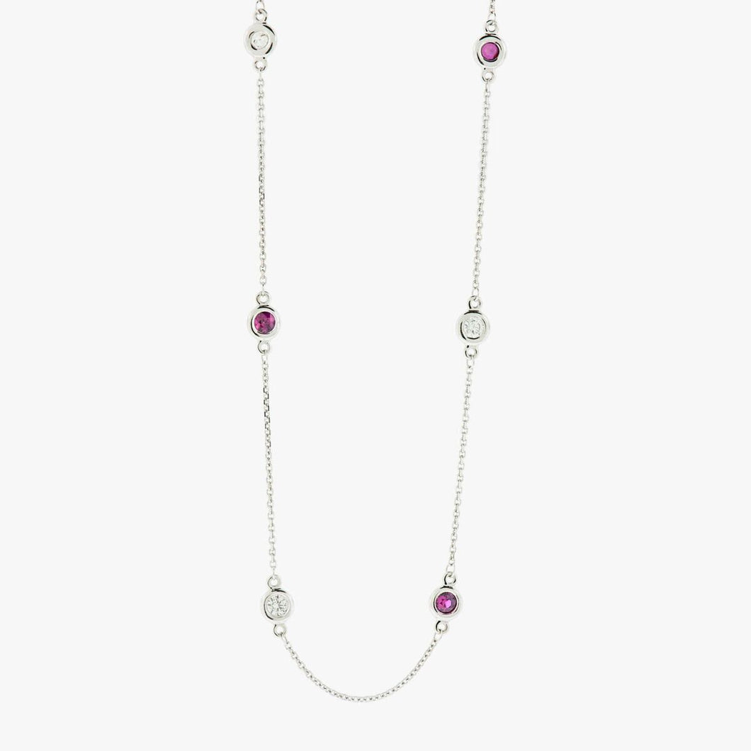 Ruby and Diamond Necklace