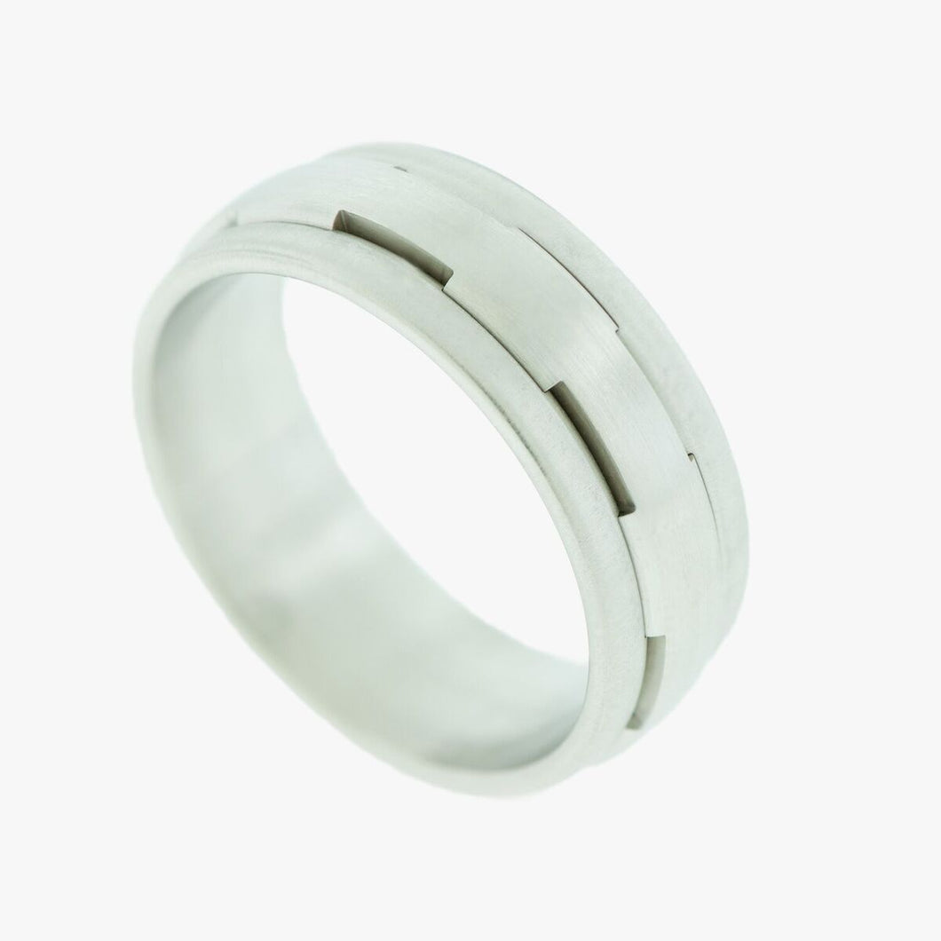 Platinum Medieval Style Wedding Band