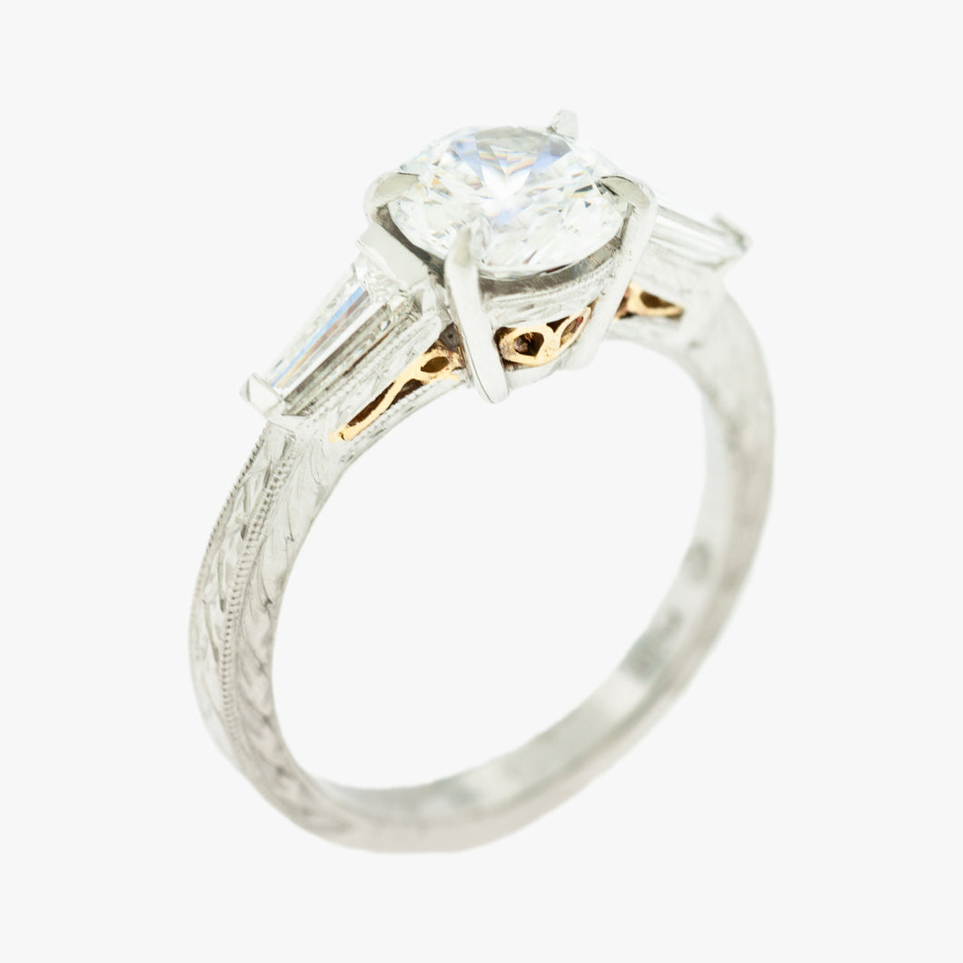 Engagement Ring Hand Engraved Jewelry store in San Francisco Partita Marina District custom jewelry design