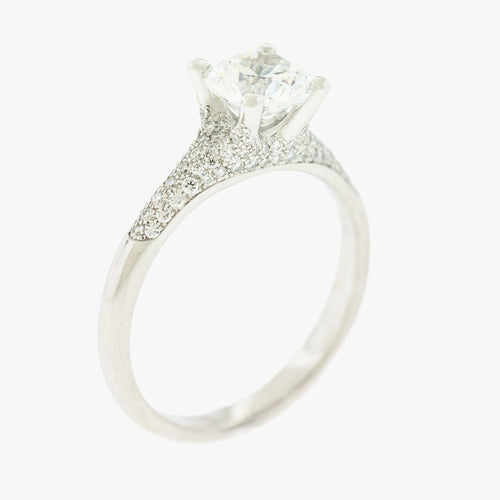 Solitaire Engagement Ring San Francisco jewelry store in Marina district Partita custom design jewelry