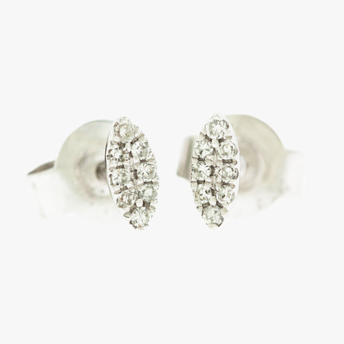 Post Earrings with Diamonds San Francisco Partita design custom jewelry