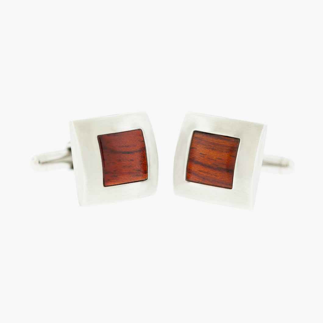 Red Wood Cufflinks