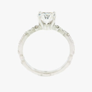 Floral Motif Engagement Ring