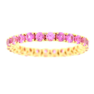 Eternity Pink Sapphire Wedding Band