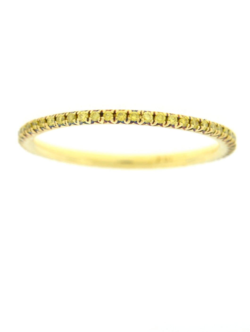 Yellow Diamond Pave Band