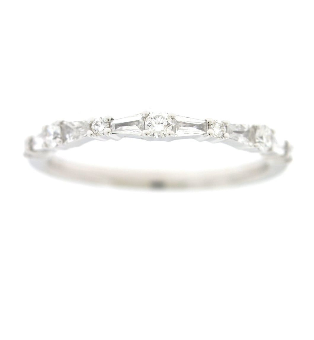 Diamond Wedding Band with Baguettes