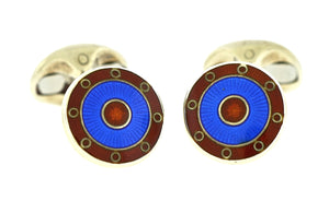 Enamel Red and Blue Cufflinks