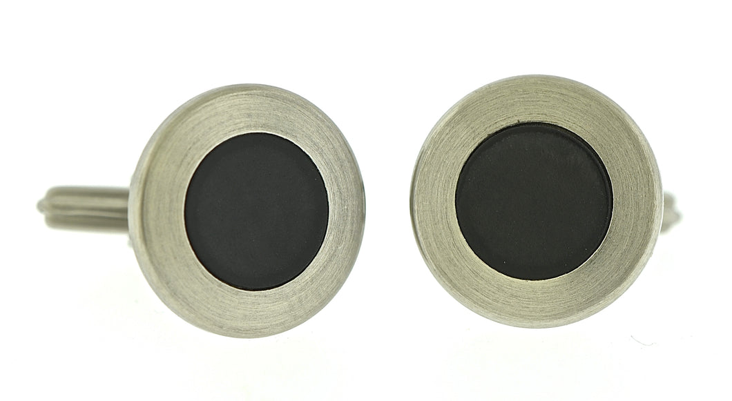 Rubber Circle Cufflinks