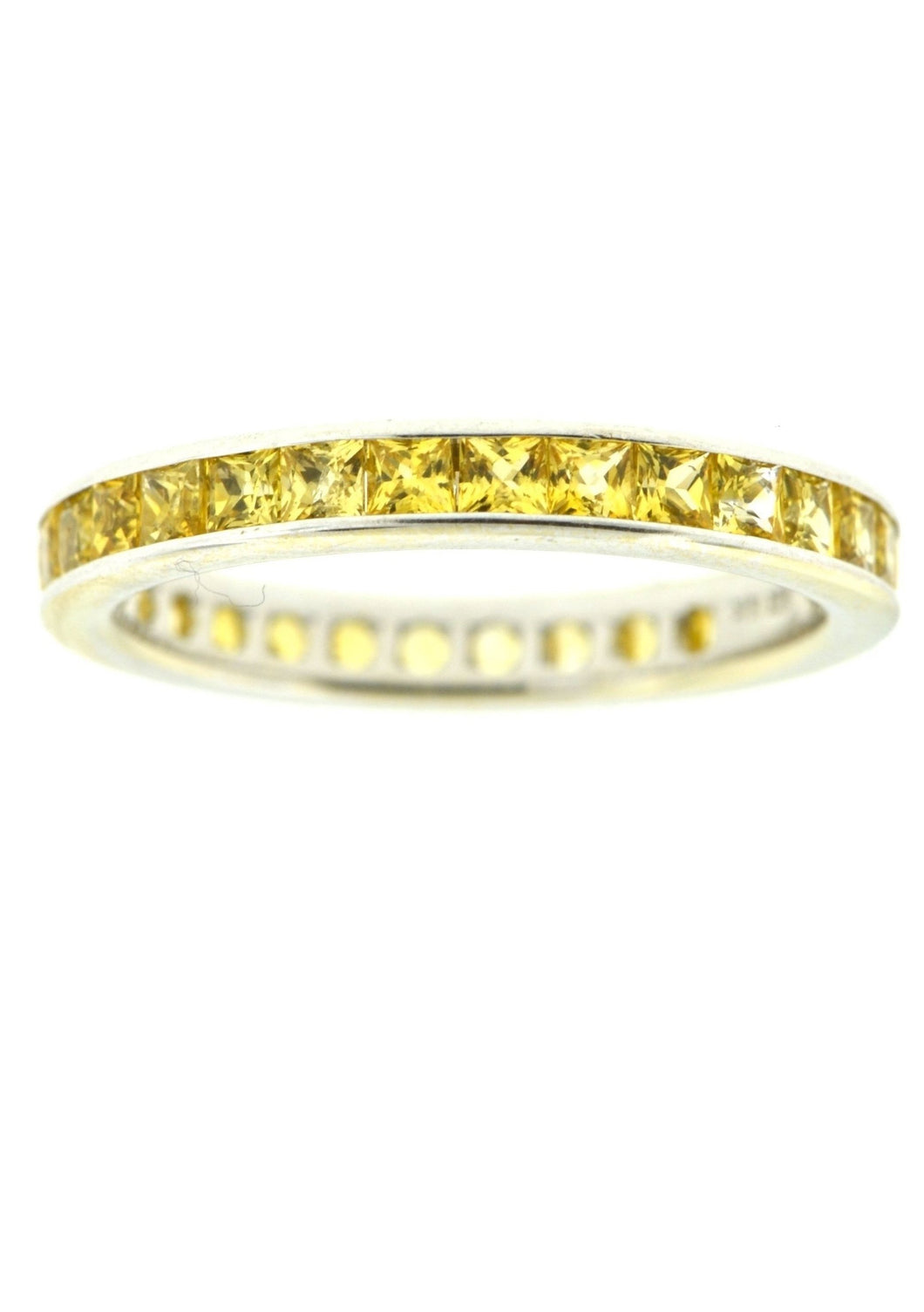 Wedding Band with Yellow Sapphires