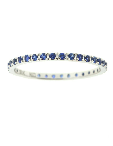 Blue Sapphire Stacking Band