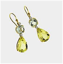 Load image into Gallery viewer, Green Amethyst Earrings