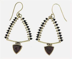 Bohemian Black and Silver Earrings