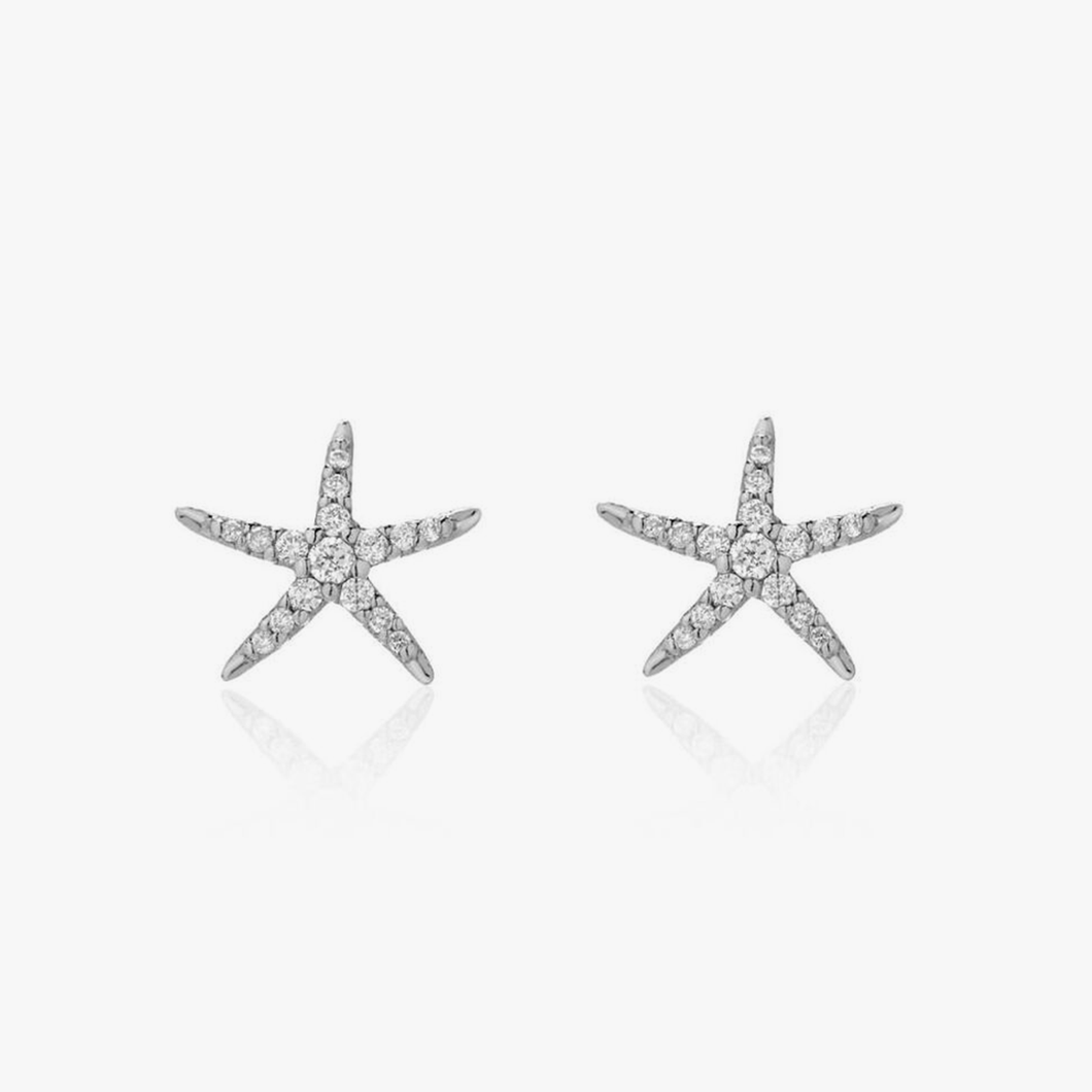 Diamond Earrings Starfish Partita custom Design Jewelry San Francisco
