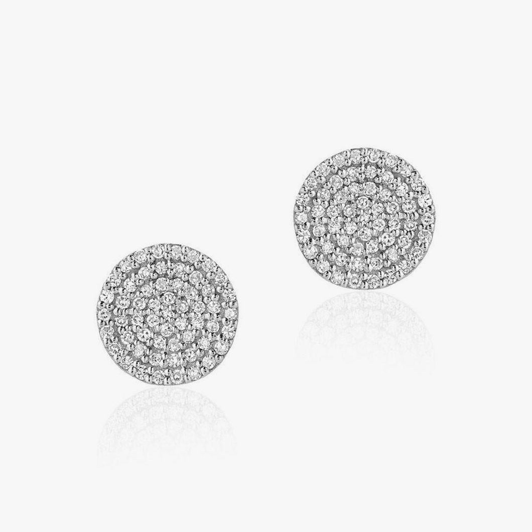 Large Round Pave Diamond Posts