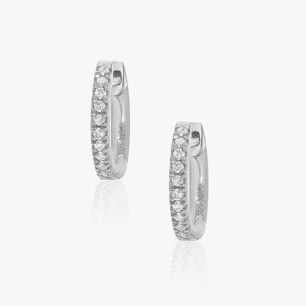 Hoops Diamond Earrings Simple Partita Custom design Jewelry San Francisco