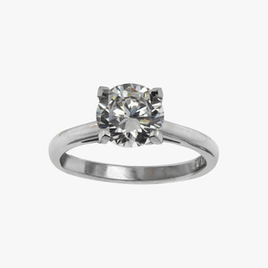 Classic Solitaire Engagement Ring Setting