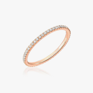 Diamond & Rose Gold Eternity Stacking Band