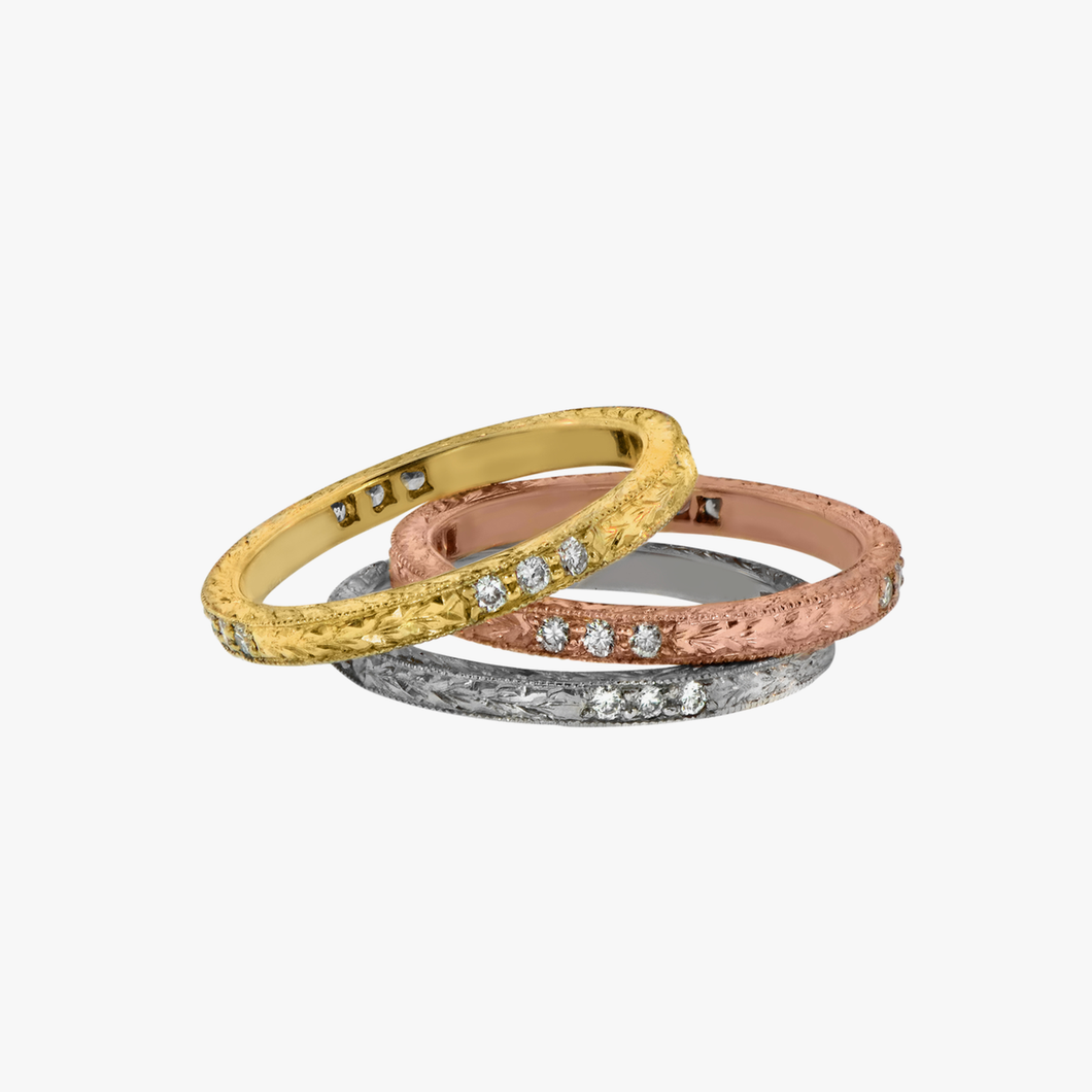 custom laser bands by duck roped ring engraved band wedding product