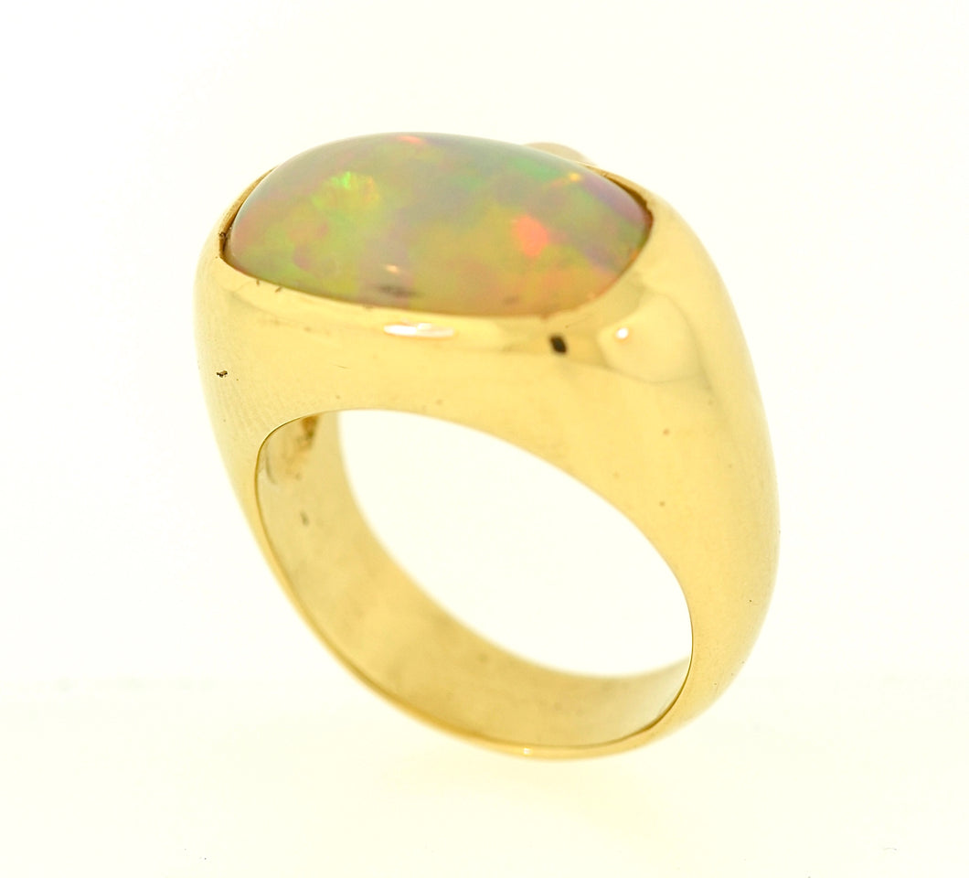 Eithiopian Hydrophane Opal Ring
