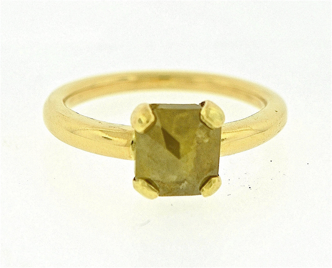 Rough Cut Diamond Ring