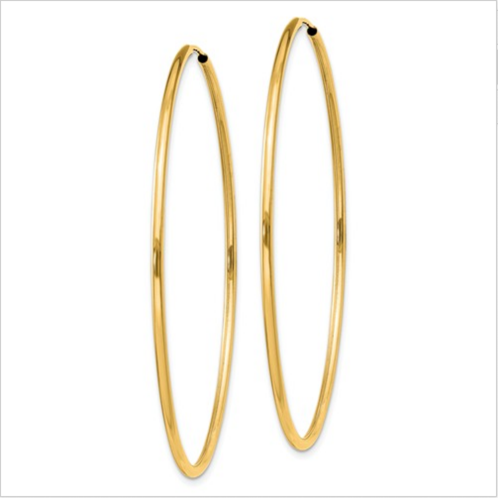 Hoop Medium Yellow Gold Earrings
