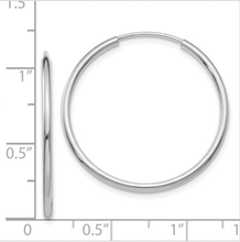 Load image into Gallery viewer, Hoop Small White Gold Earrings