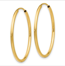 Load image into Gallery viewer, Hoop Small Yellow Gold Earrings