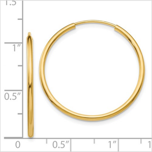 Hoop Small Yellow Gold Earrings