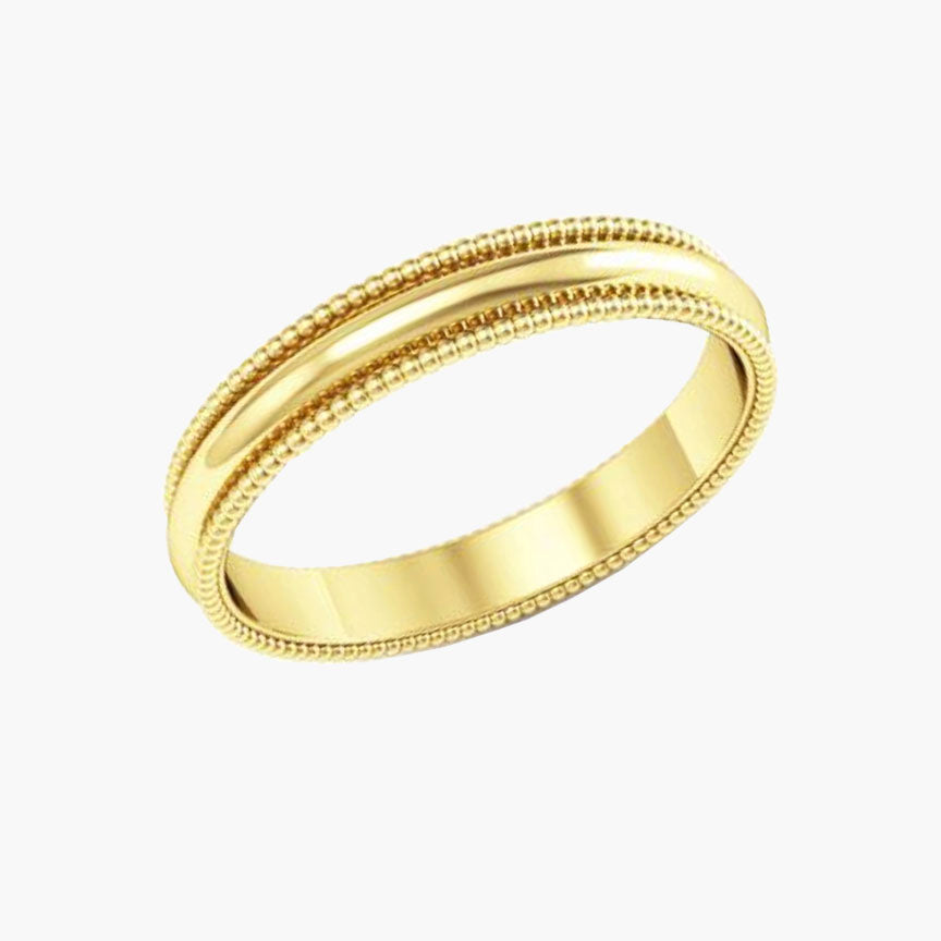 Thin Men's Wedding Band with Milgrain