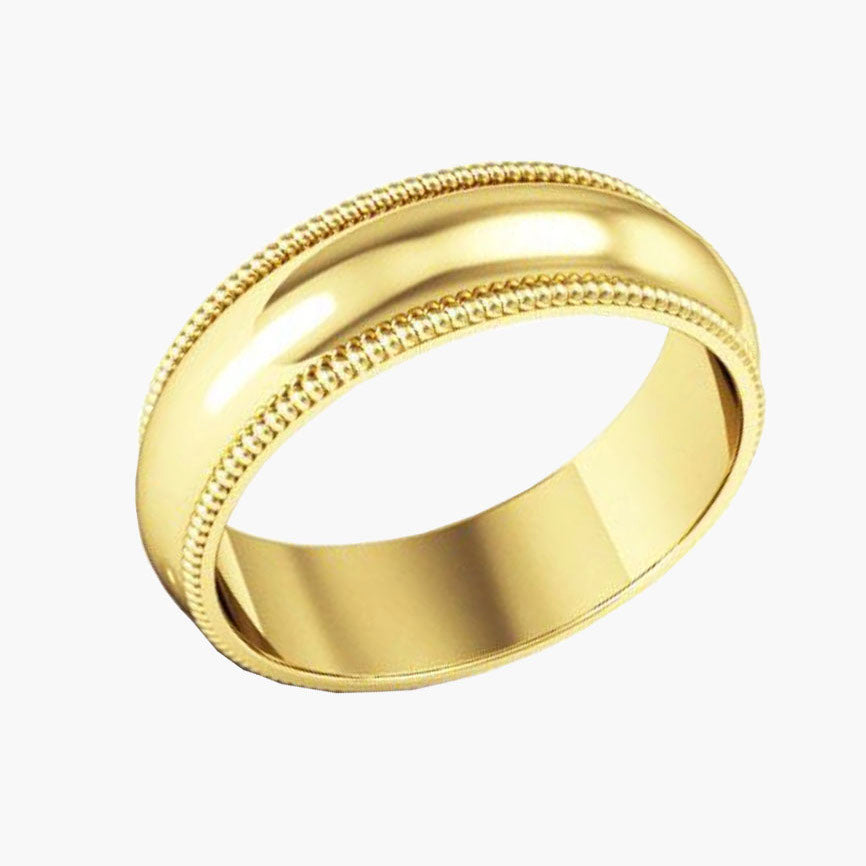 Men's Wedding Band with Milgrain
