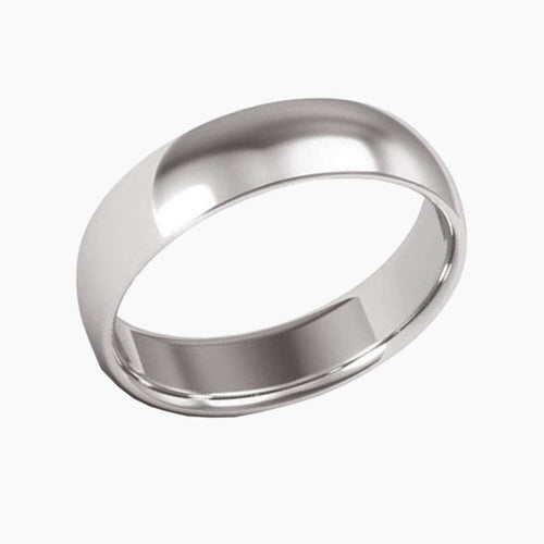 Classic Comfort-Fit Half Round Wedding Band