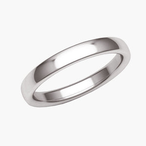 Classic Low Dome Wedding Band