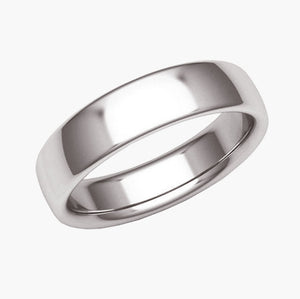 Half Round Light Wedding Band
