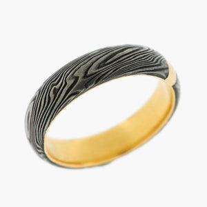 Damascus Steel Men's Wedding Band
