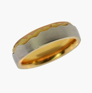 Mountain Men's Wedding Band
