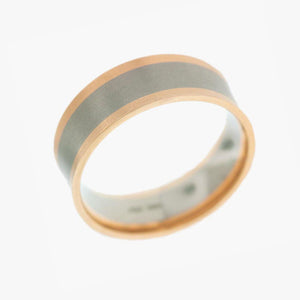 Rose and White Gold Men's Wedding Band