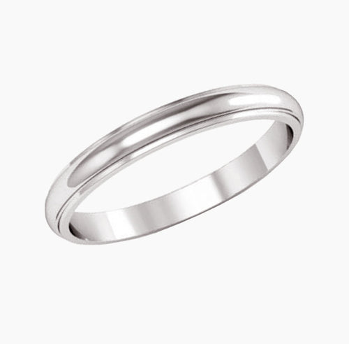 Half Round Edge Classic Wedding Band