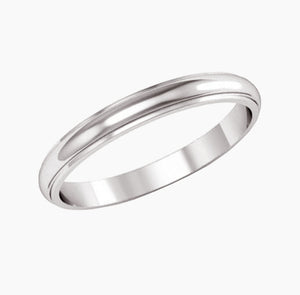 Wedding Band with Edge
