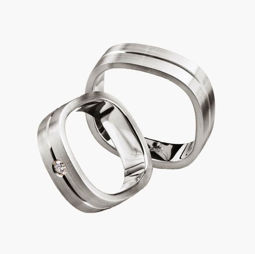 Matte Square Men's Wedding Band