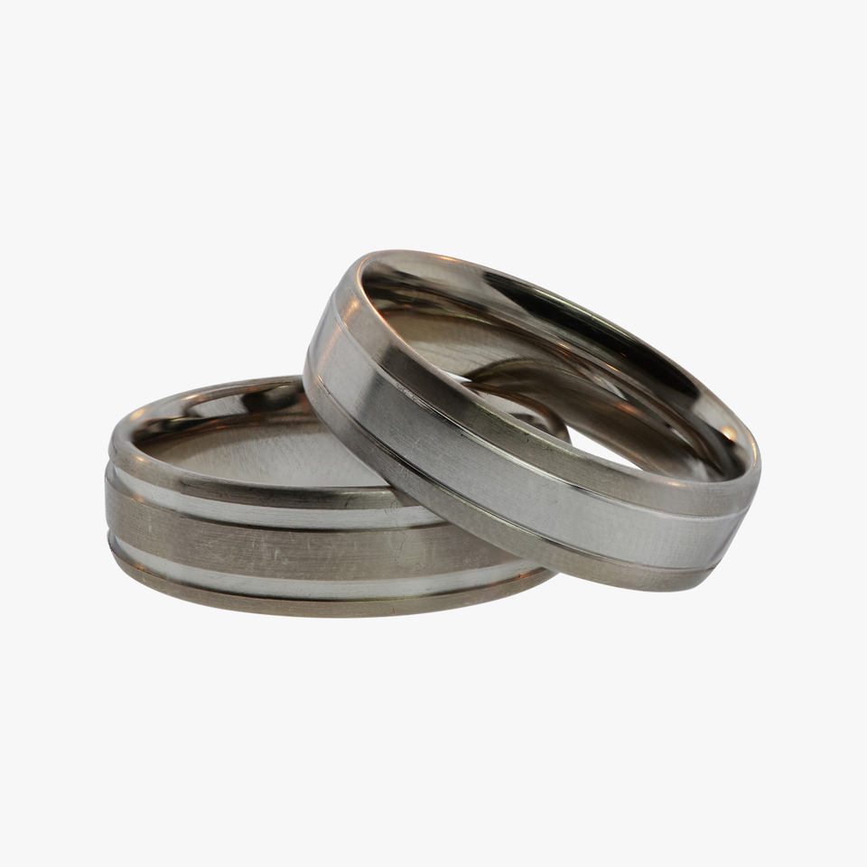 Platinum and Palladium White Gold Men's Wedding band Bands rings ring Coge San Francisco Partita customer jewelry design wide unique selection
