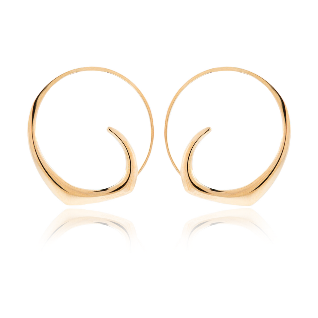 Yellow Gold Anticlastic Hoops
