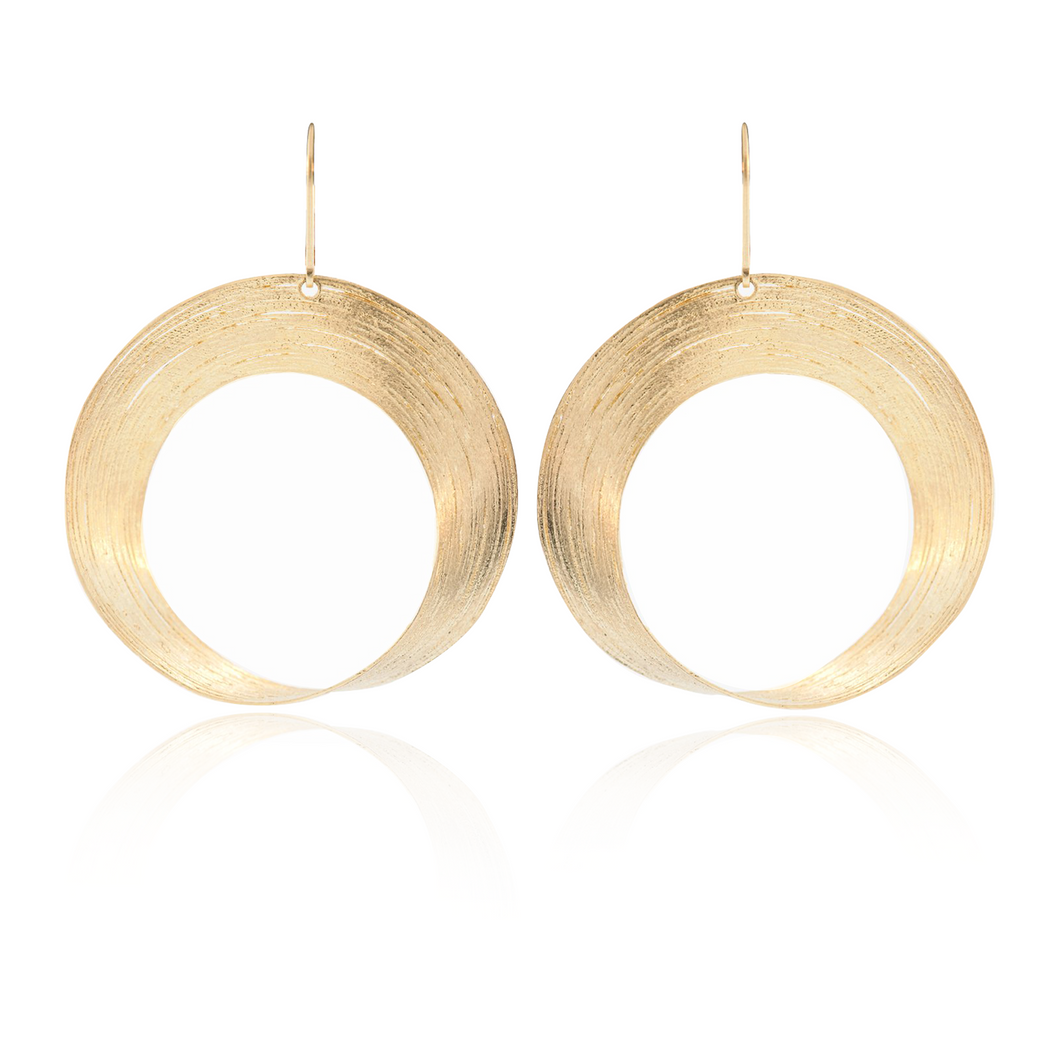 Yellow Gold Circular Dangle