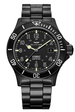 Glycine Combat Sub Automatic Watch watches made in Germany San Francisco  Partita customer design
