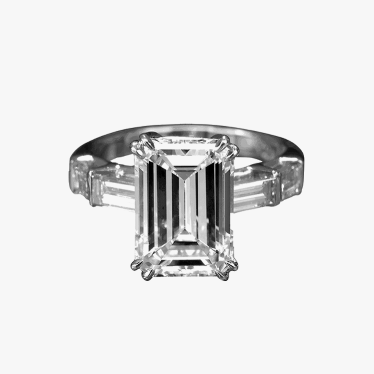 Emerald Cut Diamond Engagement Ring Rings Best selection San Francisco Partita Customer design jewelry