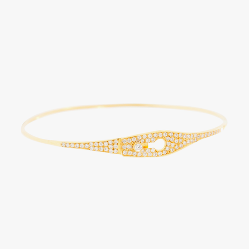 Yellow Gold Diamonds Floral Bracelet Gold Partita custom design jewelry