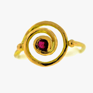 Life Spiral Ruby Ring